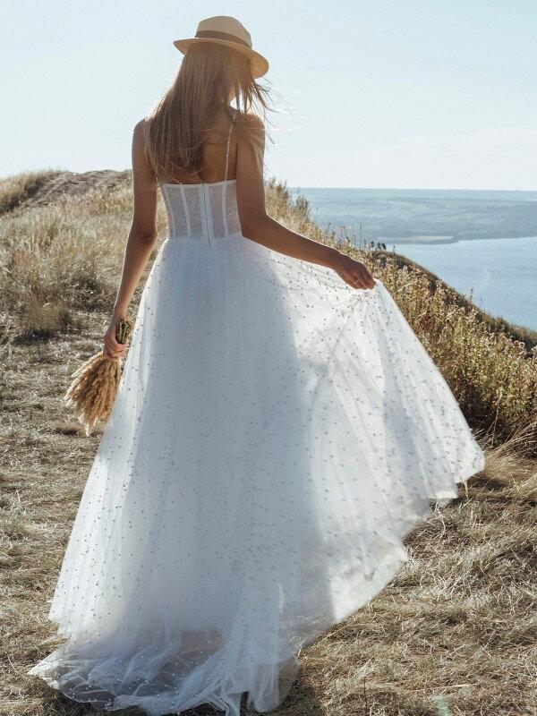 Свадебное платье со шлейфом Sakura 1521