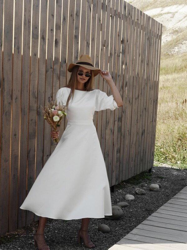 Свадебное платье миди с рукавами Tina 2021 Midi