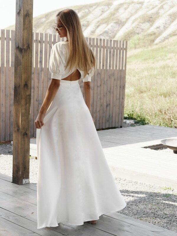 Короткое свадебное платье с рукавами Sofi 2021