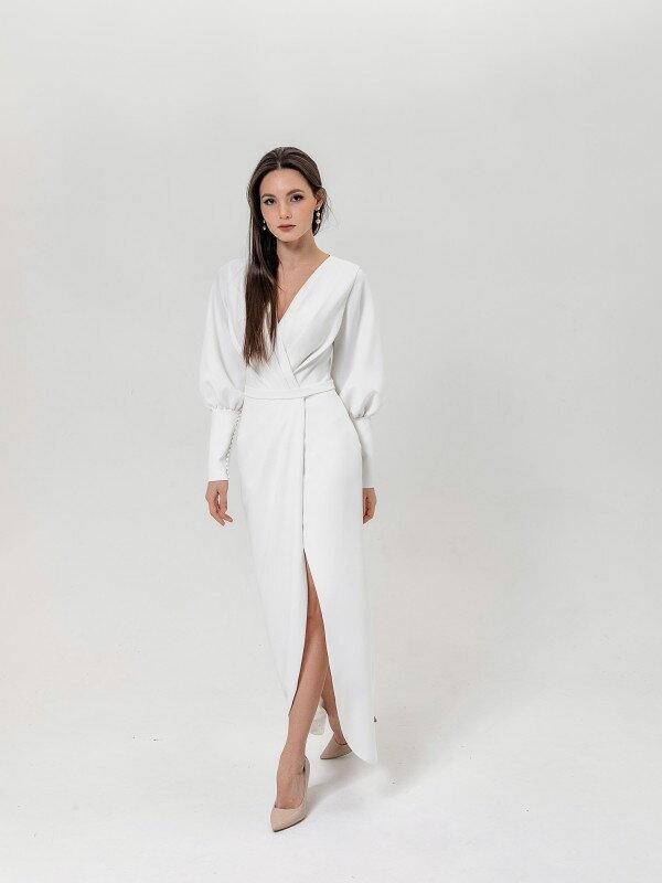 Свадебное платье большого размера Aleksa 1621 манжеты