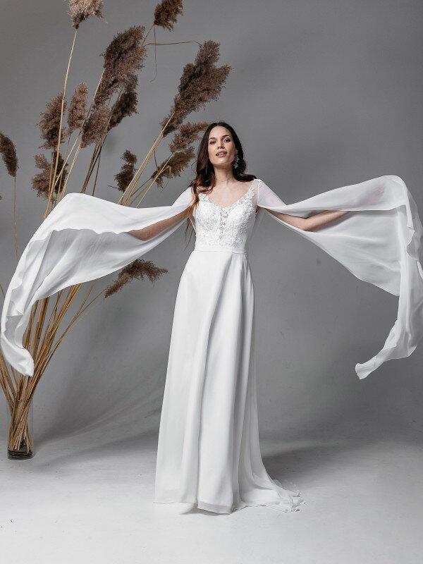 Свадебное платье со шлейфом Linda 5421