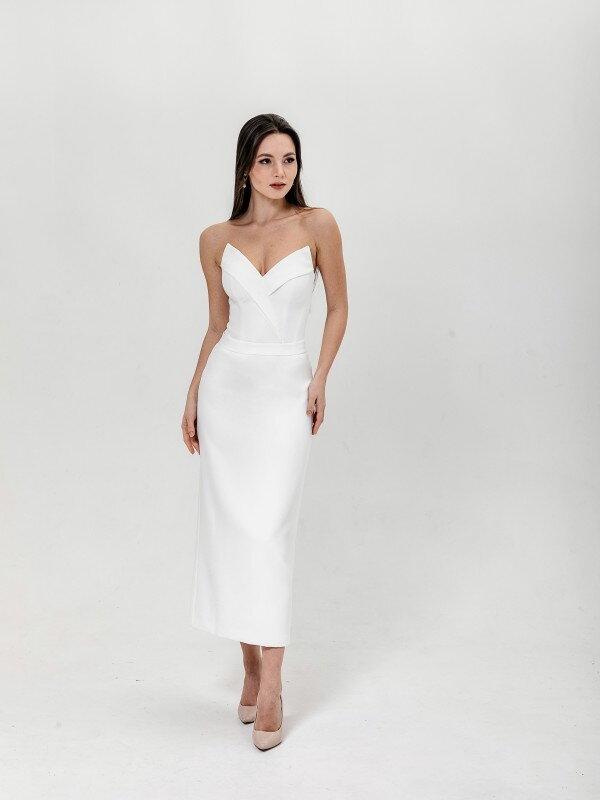"Свадебное платье ""футляр"" Midi Laura 6721"