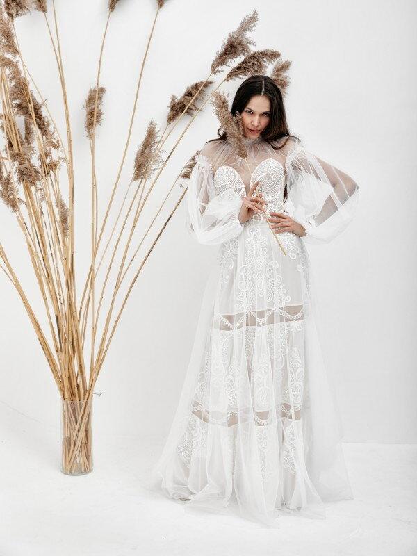 Свадебное платье со шлейфом Briana 2921