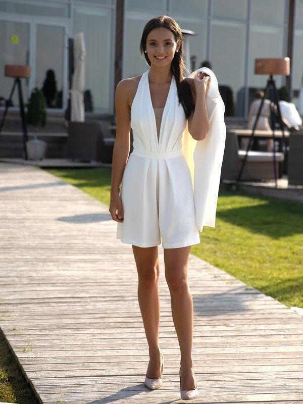 Короткое свадебное платье со шлейфом Summer 1122