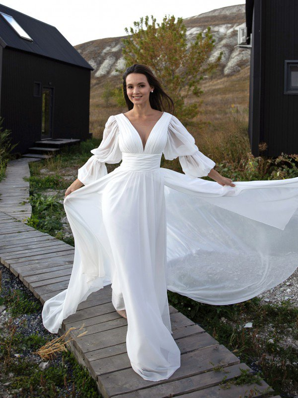 Свадебное платье с разрезом Eleanor 2822