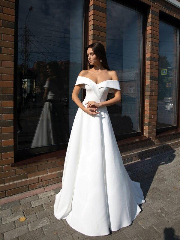 Простое свадебное платье Polly 7722