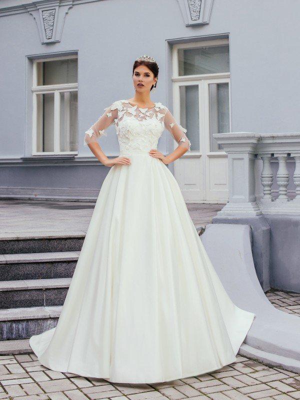 Пышное свадебное платье для полных Blansh 0113