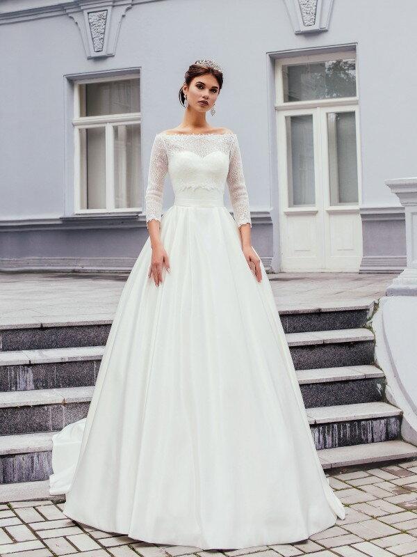 Пышное свадебное платье для полных Rouz 189