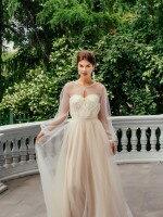 Свадебное платье А силуэт с кружевом и болеро арт. 229