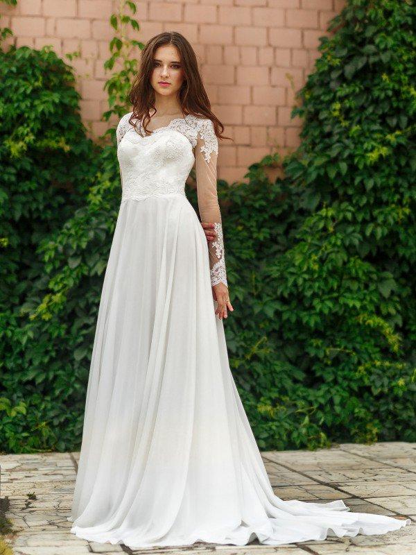 Свадебное платье с рукавами Karolin 359