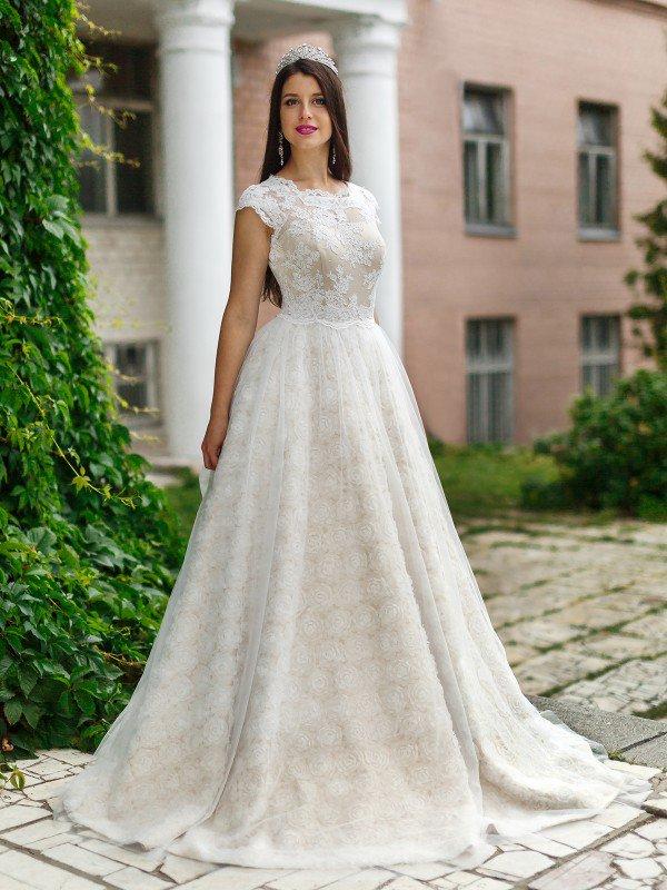 Пышное свадебное платье для полных Mariz 507m