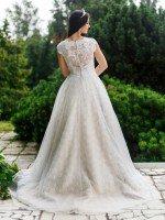 Свадебное платье А силуэт юбка розочки арт. 507 мокко