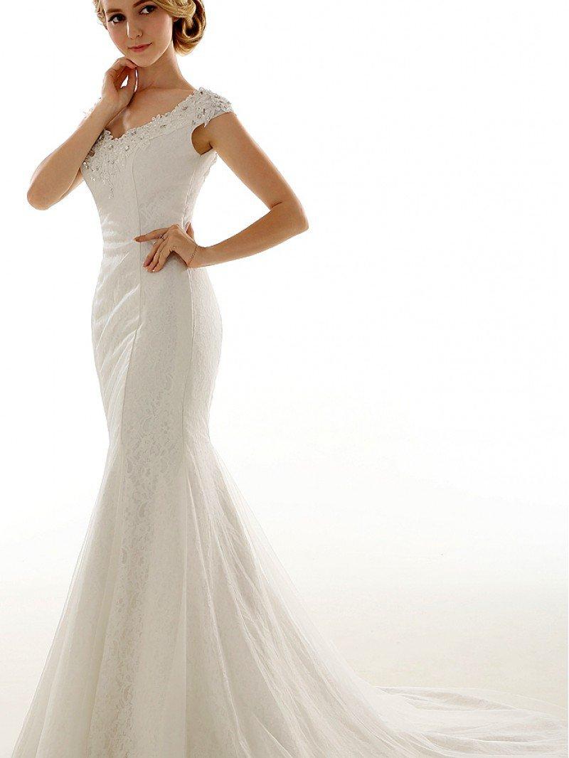 Свадебное платье кружевная русалка арт. 701