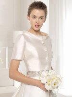 Свадебное платье из атласа с болеро арт. 886