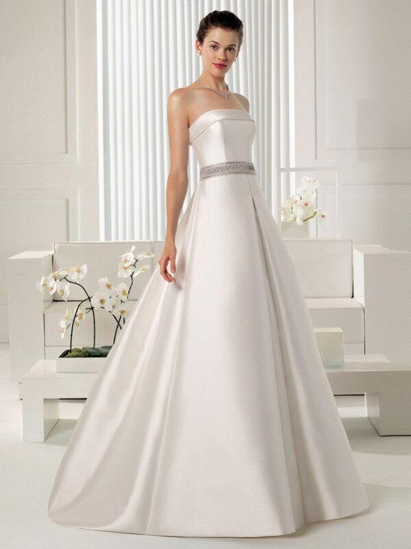 Атласное свадебное платье для беременных 886