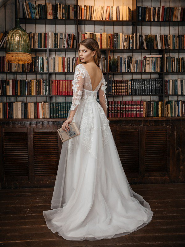 Молочное свадебное платье Filomena 330а