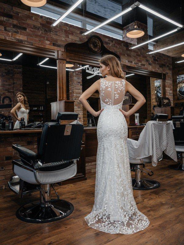 Молочное свадебное платье Ibbi 375