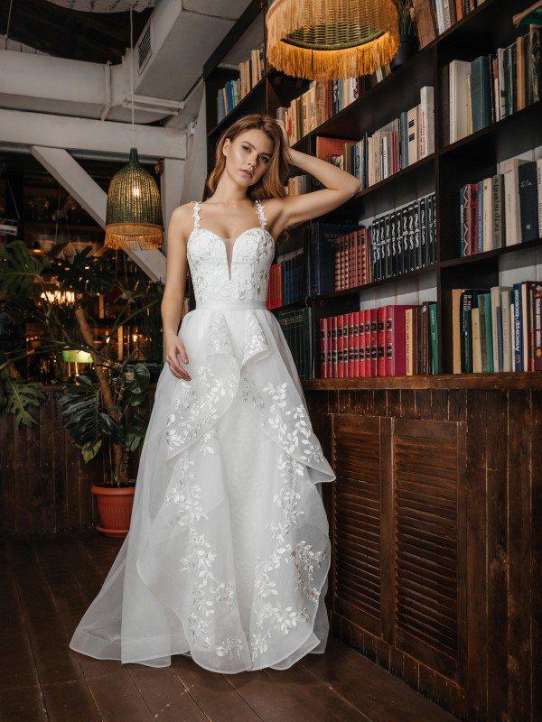 Свадебное платье с корсетом Ibbi 375u