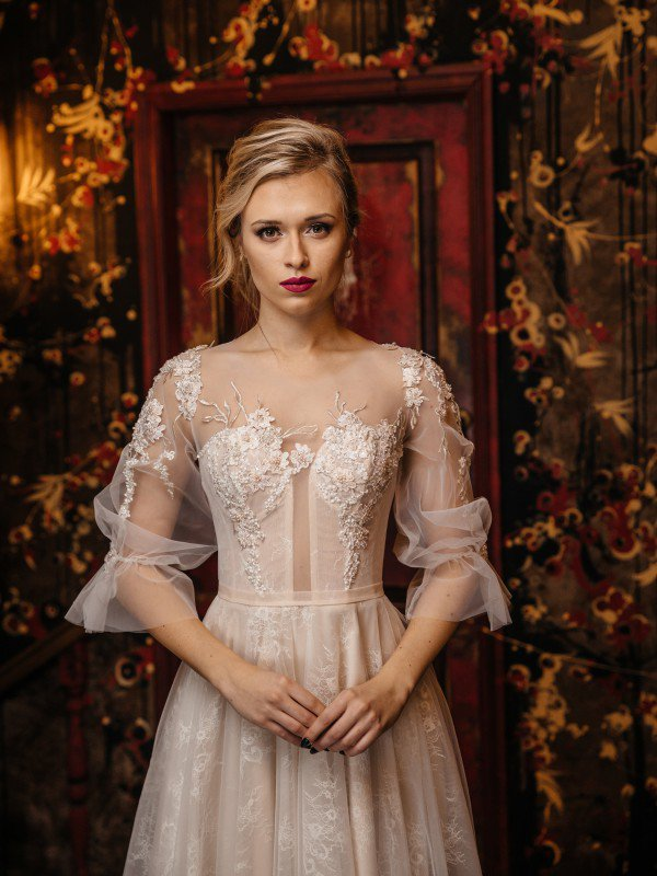 Цветное свадебное платье Gemma 414