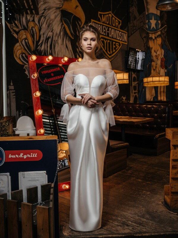 Строгое свадебное платье Haruko 421