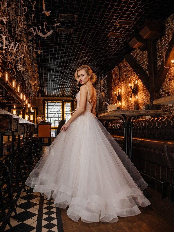 Свадебное платье с блестками Odelis 418
