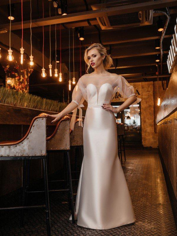 Молочное свадебное платье Akira 416