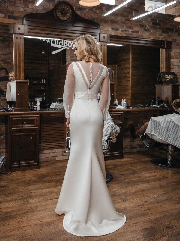 Строгое свадебное платье Luiza 425