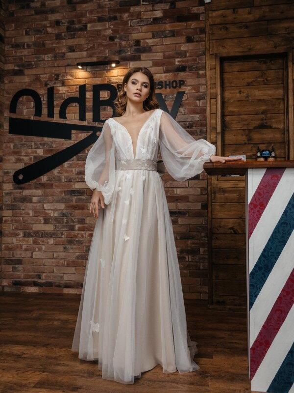 Цветное свадебное платье Cayo 428