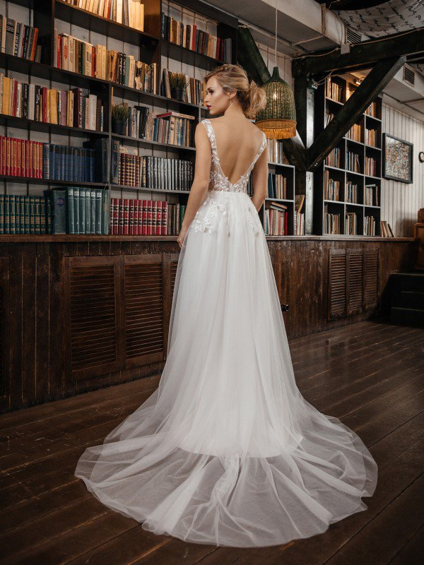 Цветное свадебное платье Vesta 438
