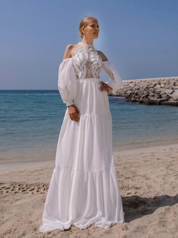 Открытое свадебное платье Emma 1126