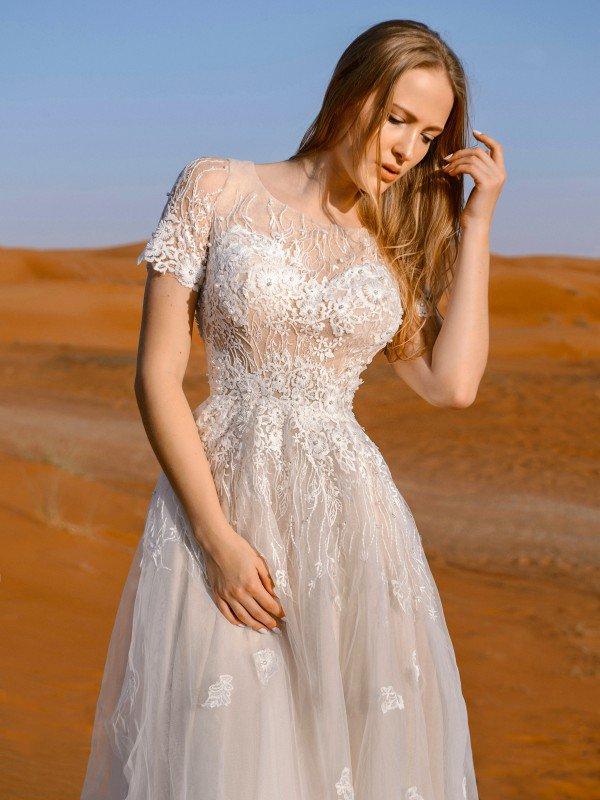 Свадебное платье капучино Amy 126