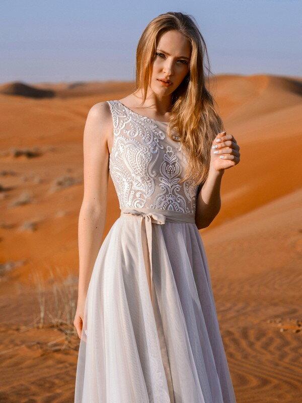 Свадебное платье капучино Lilit 797m