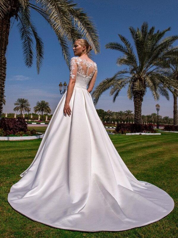 Пышное свадебное платье для полных Donna 845