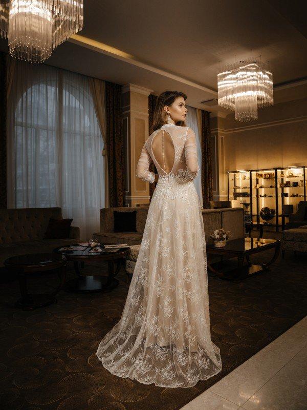 Свадебное платье капучино Reina 430