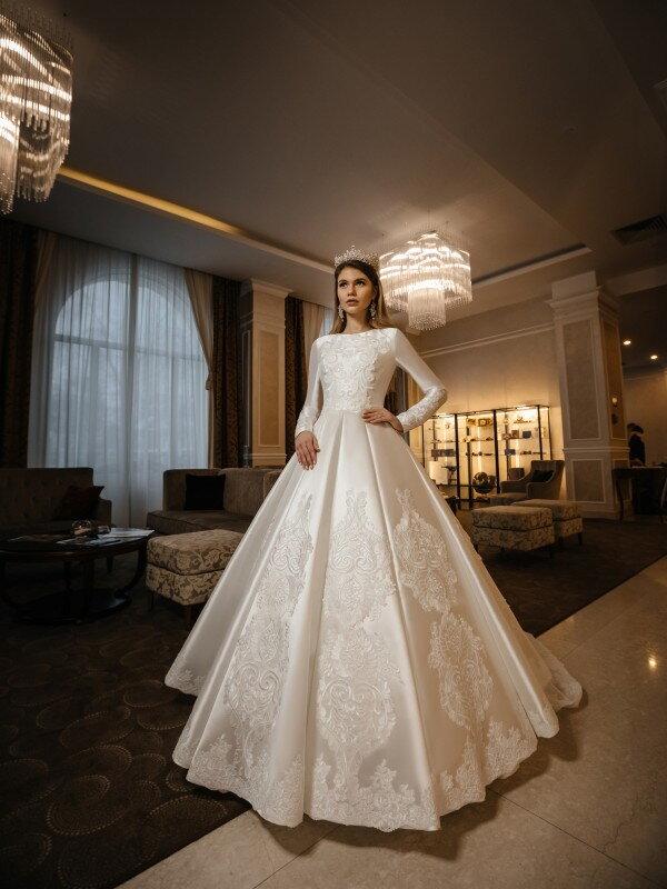 Свадебное платье с блестками Halima 435