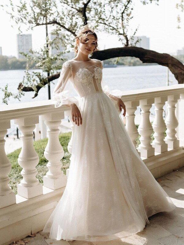 Свадебное платье шампань Gemma 414