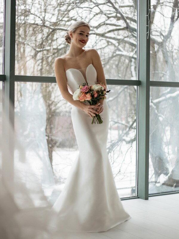 Свадебное платье шампань Akira 416