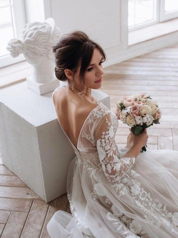 Свадебное платье шампань Filomena 330m