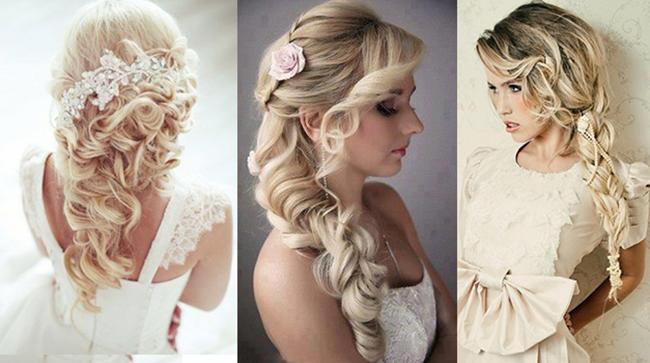 Прически на свадьбу средней длины волос