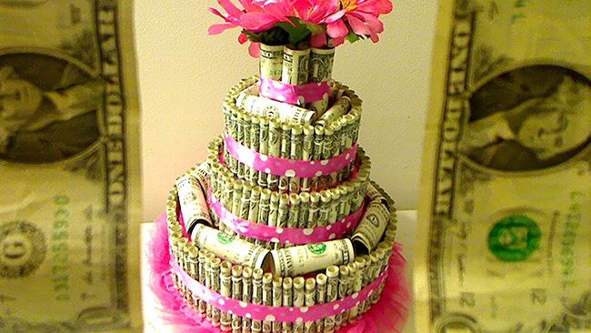 Украшение торта денежное дерево фото