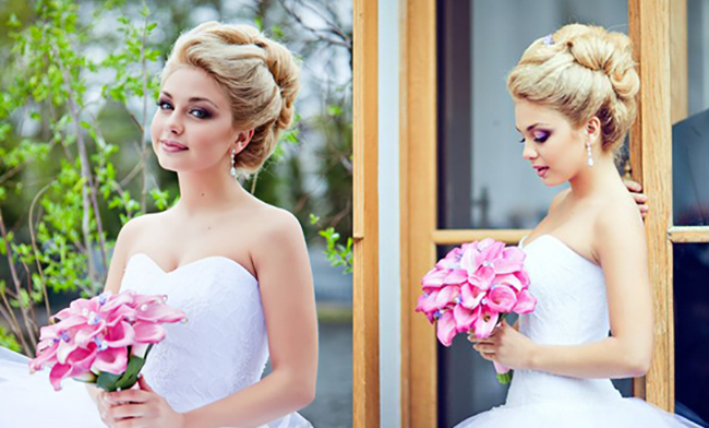 Прически на свадьбу собранные