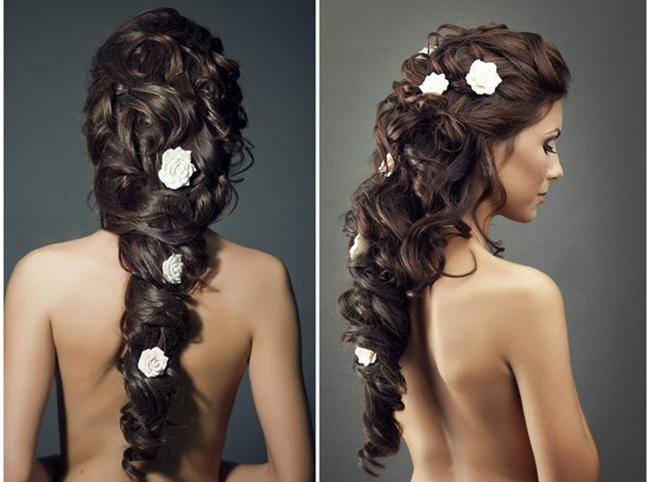 Картинки платье длинные волосы